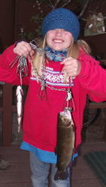 10 year-old fisher with 17 inch trout