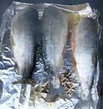 two kokanee and a rainbow in lemon blush olive oil