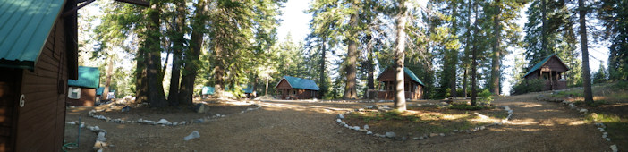 Panorama showing the Lakeview Cottages campus