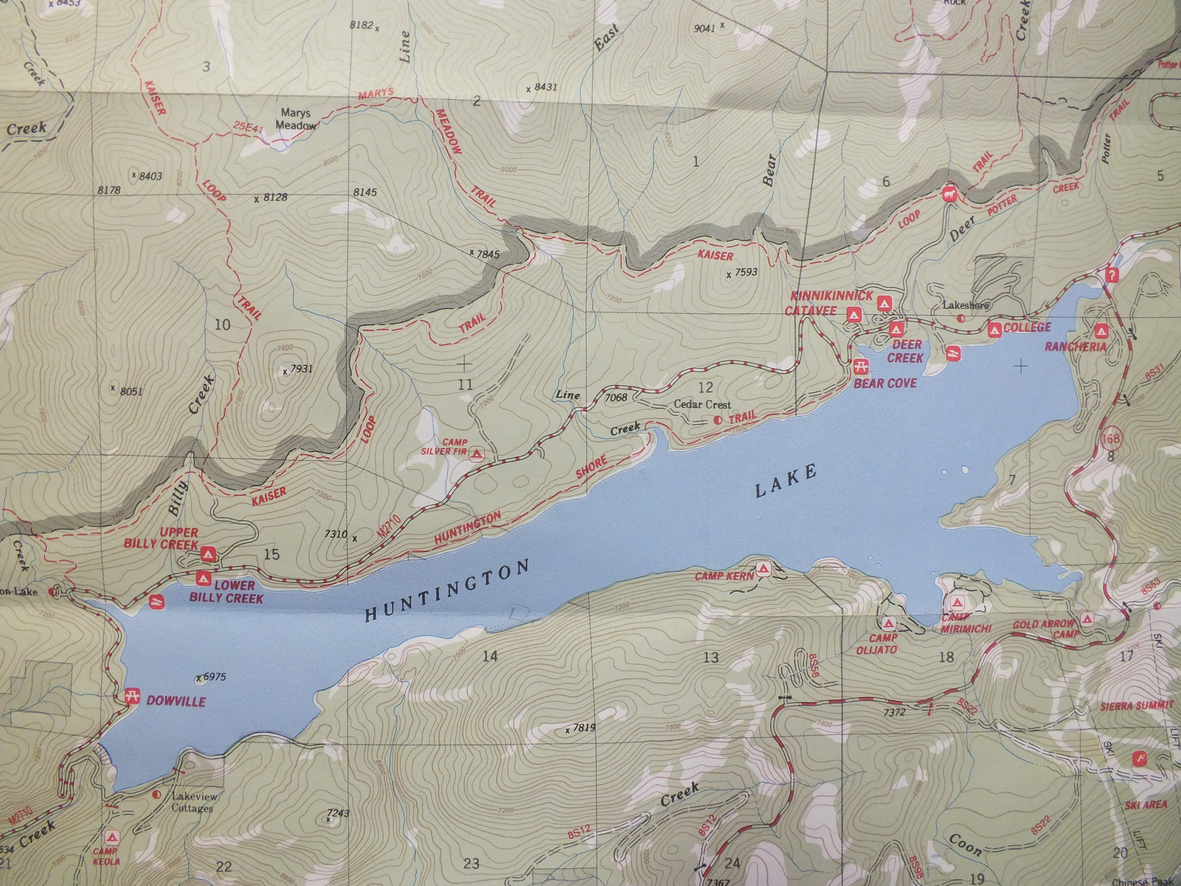 Lakeview Cottages On Huntington Lake Maps